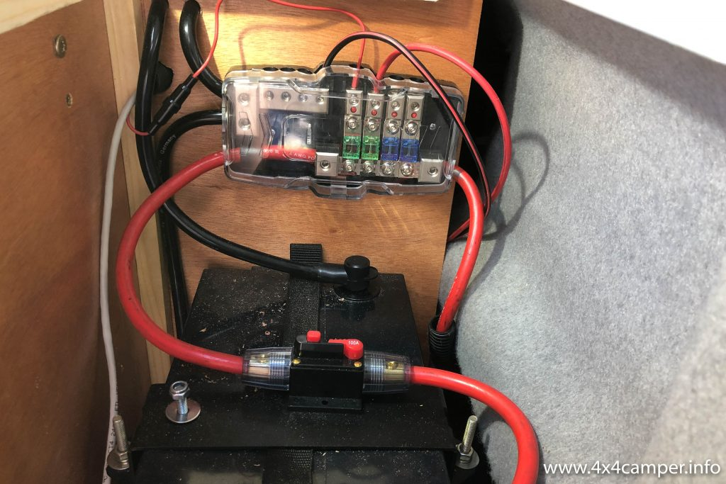Rear fuse box (some temporary wiring shown)
