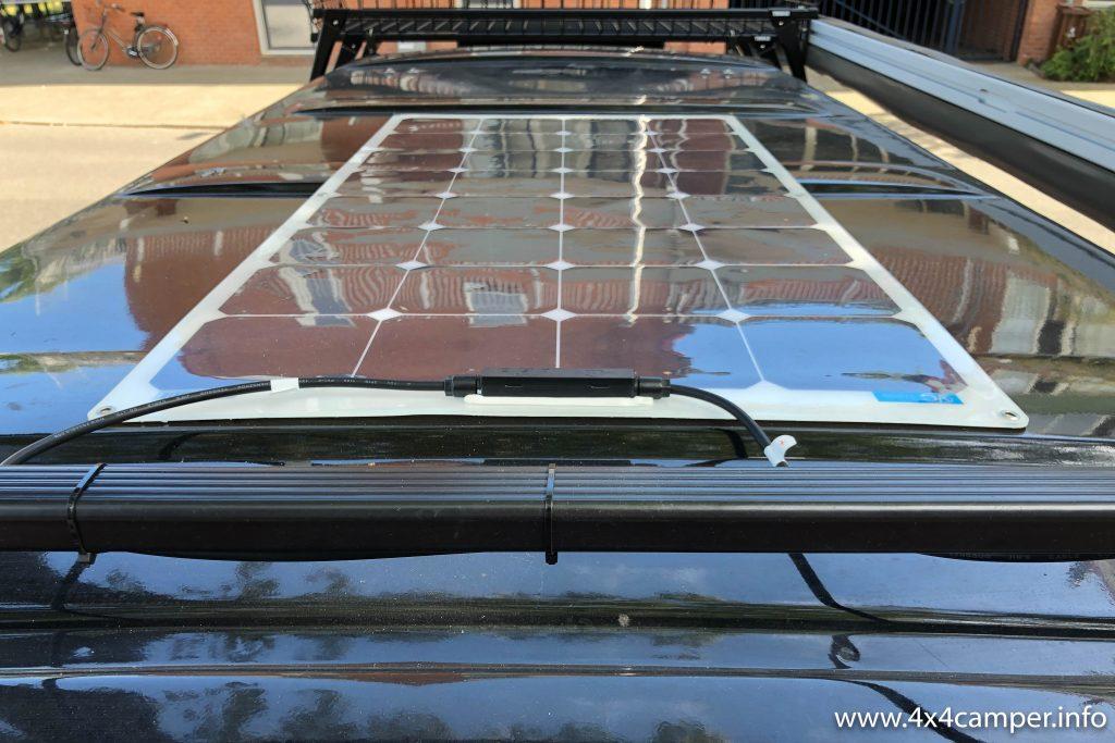 Solar panel installed