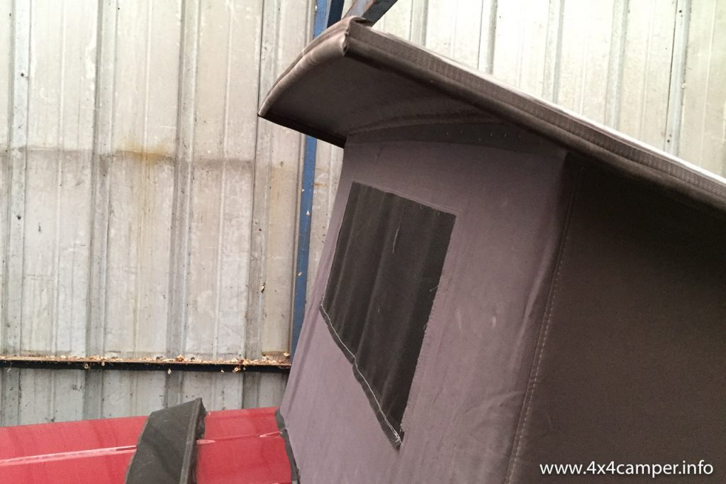 Popup roof, opened