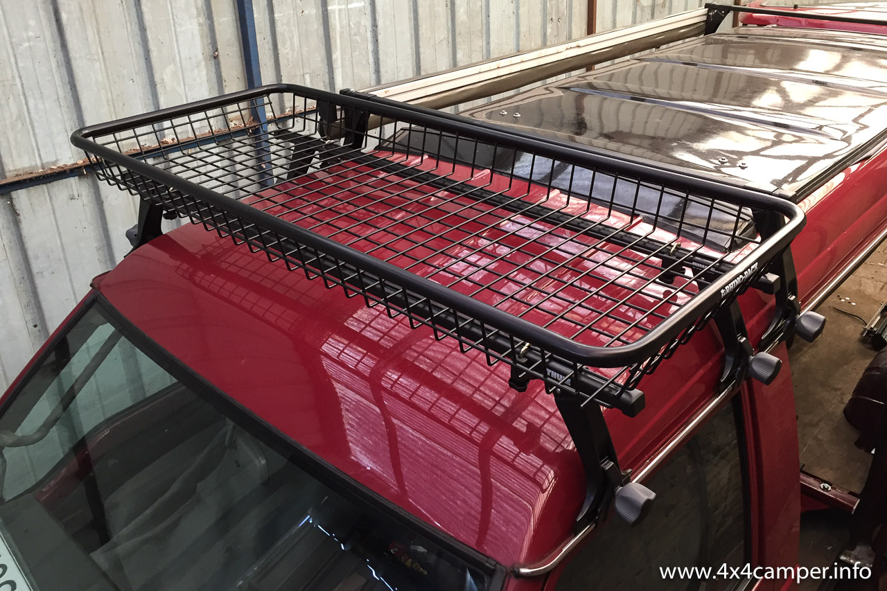Roof Rack With Rhino Rack Luggage Basket 4x4 Camper
