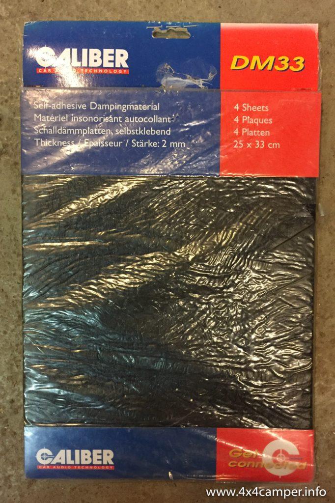 Caliber DM33 damping mats