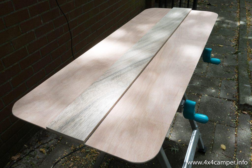 Plywood panel, backside