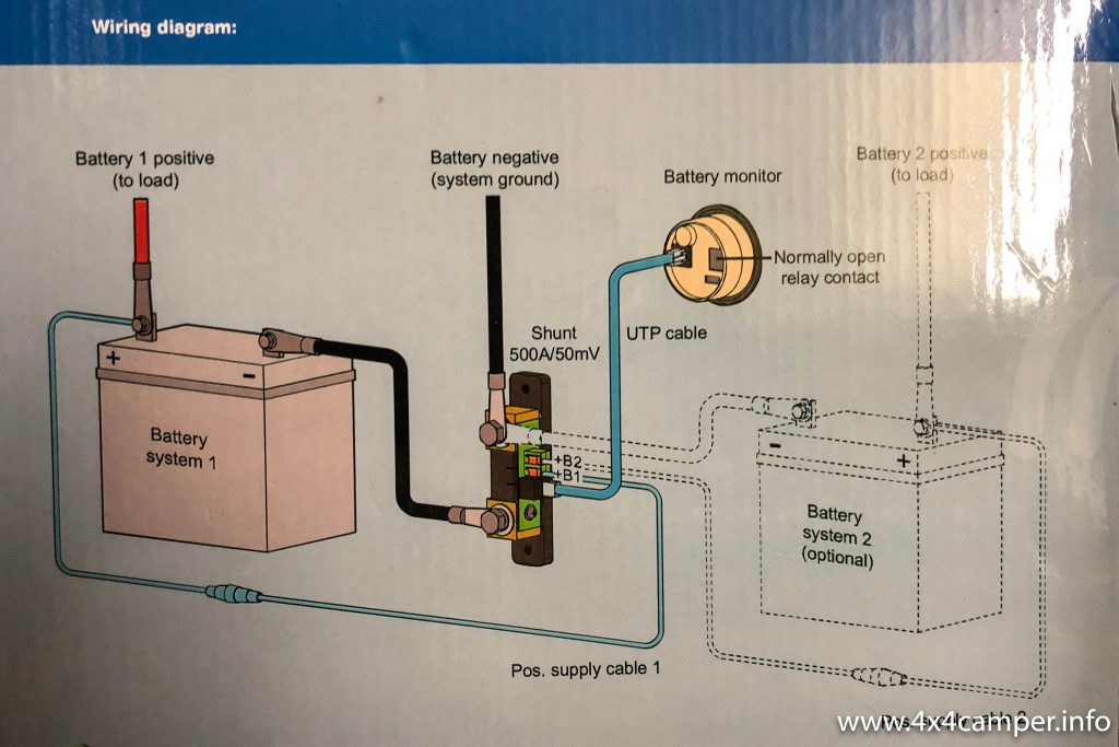 Victron BMV 712 Smart battery monitor wiring diagram