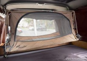 Kids bed installed in the rear of an L400